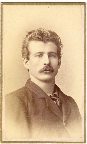 Man With Moustache, Carte De Viste, Davenport, Iowa | Flickr - Photo Sharing!
