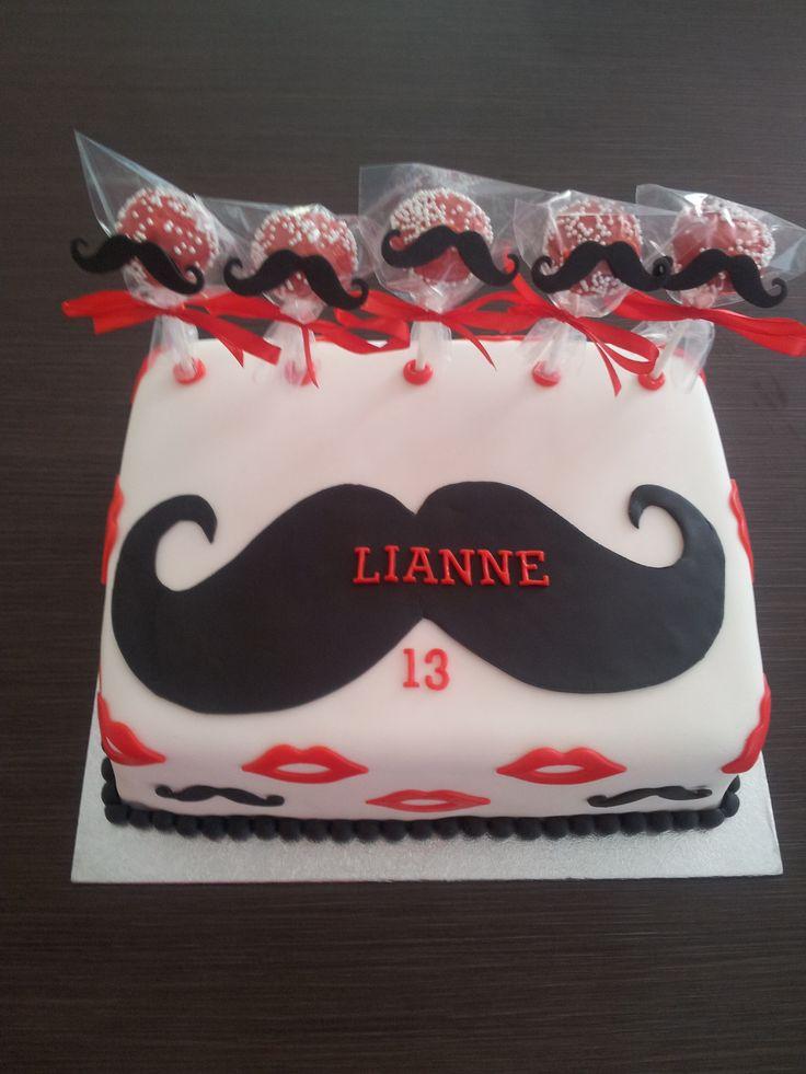 Taart snor/ Cake moustache