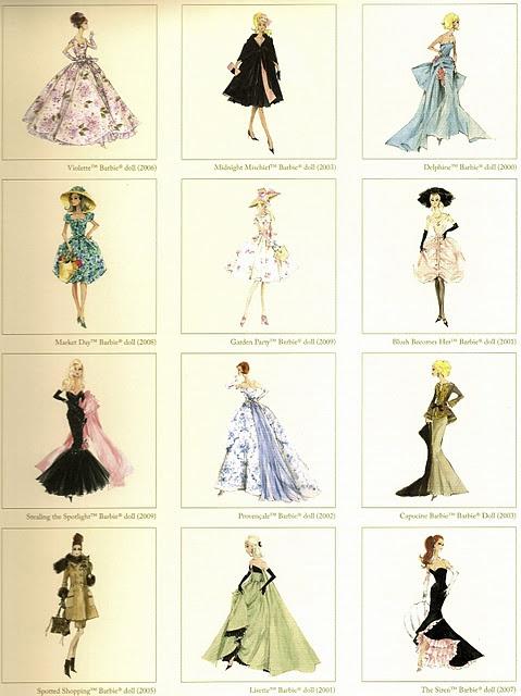 Vintage Barbie Fashion Prints