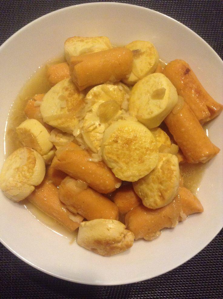 Tofu tumis sosis #homemade #masakankoe