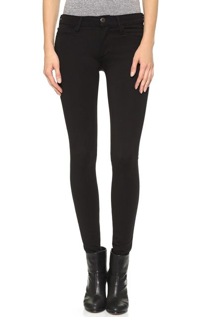 More elegant than jeans — and way more comfortable, too. True Religion Halle Mid Rise Super Skinny Ponte Pants $168.00