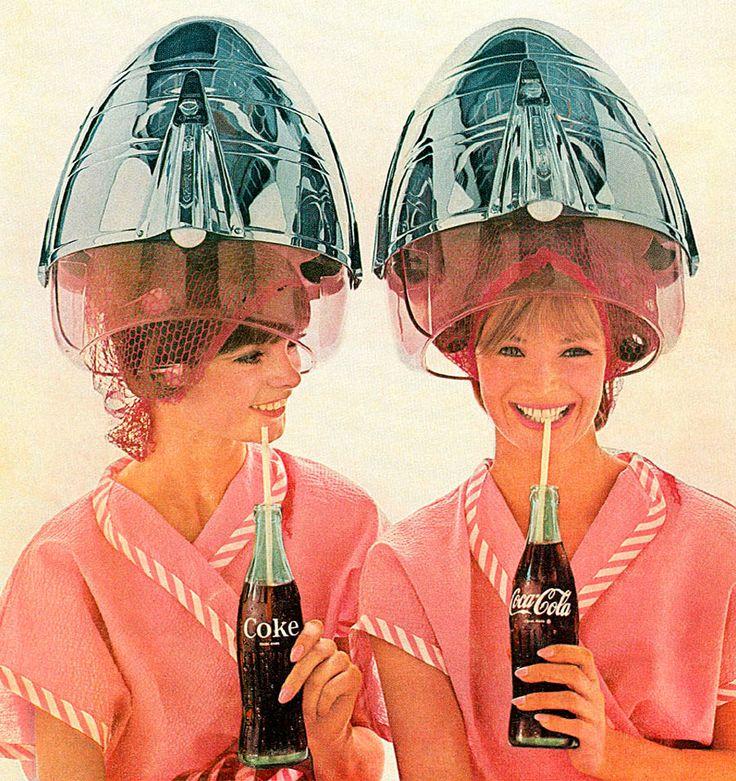 Sleek Vintage Salon Hair Dryers (Coca-Cola ad) via Dark Roasted Blend