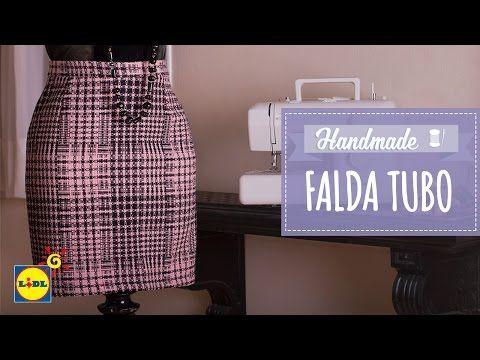 Falda De Tubo - Lidl Costura - YouTube