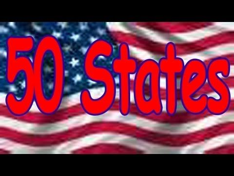 50 STATES SONG (rhyming and in alphabetical order) by THE LEARNING STATION