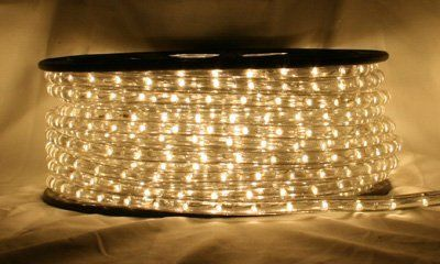 "Warm White 66 FT 110V-120V 2-Wire 1/2"" LED Rope Light, Christmas Lighting, Indoor / Outdoor rope lighting - CBConcept Brand by CB. $129.99"