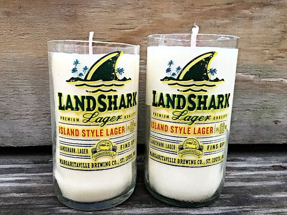 Coconut Lime Landshark Soy Candle Corona by StockTheBarCandles