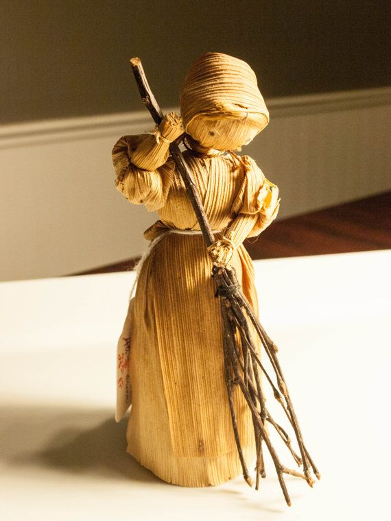 Antique Corn Husk Doll Vintage Corn Husk Doll by bettysantiques