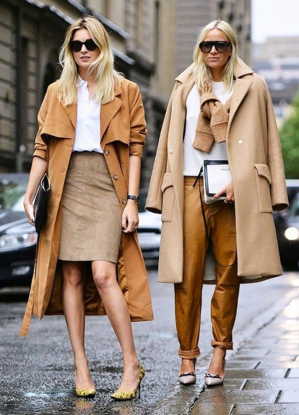 The Color That Makes Everything Look  Expensive via @Who What Wear. street style in Stockholm, Sweden. #color