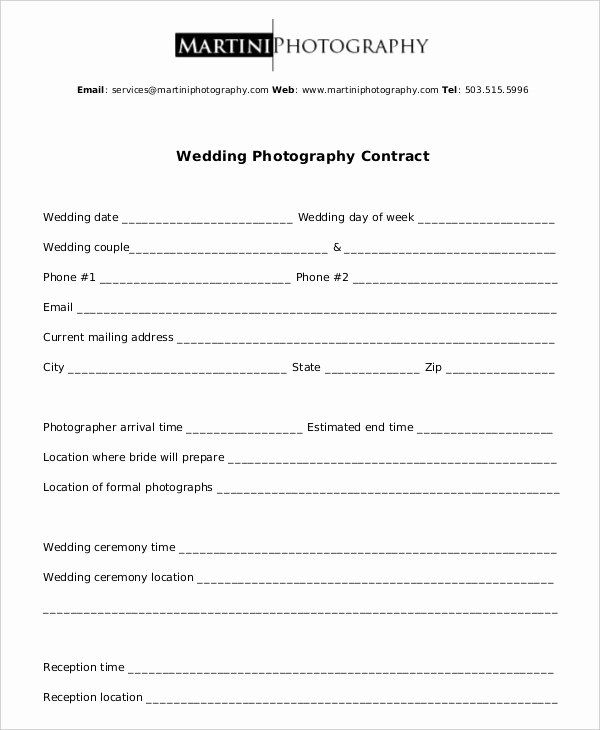 Simple Wedding Photography Contract Template Luxury Graphy Contract Exa In 2020 Wedding Photography Contract Template Wedding Photography Contract Photography Contract