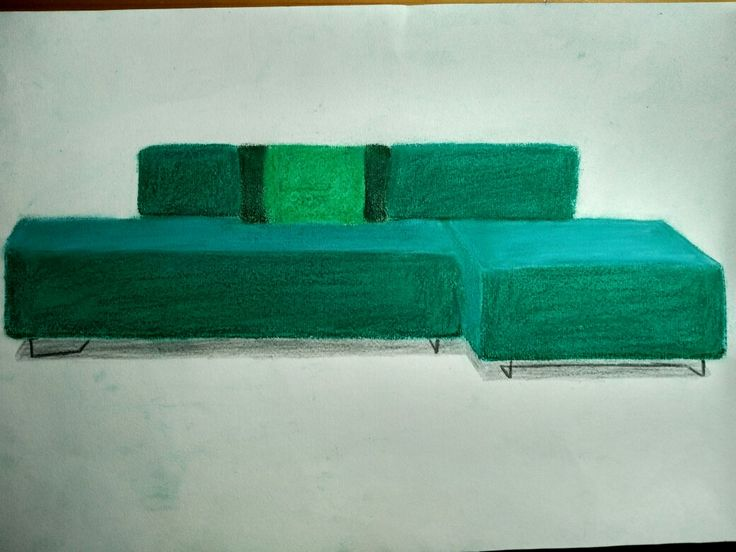 Sofá pintado con pastel