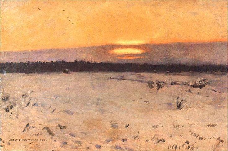 Zachod słońca zimą  1901.