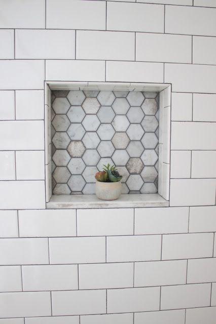 Unique Marble Shower Niche