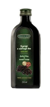 Syrop z czarnego bzu. Elderberry syrup. Ciemny, esencjonalny syrop o ciekawym smaku. Bogaty w antocyjany, stosowany przy przeziębieniach oraz problemach gastrycznych. Polecany do picia po rozcieńczeniu z zimną lub gorącą wodą, lub jako dodatek do herbat i deserów. Opakowanie: 250 ml. Cena: 7,00 zł #Elderberry #Syrup #Syrop #Bez