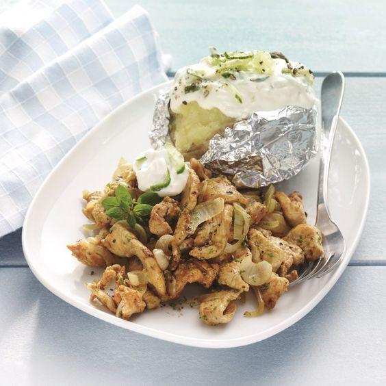 Kipgyros met tzatziki Recept | Weight Watchers Nederland