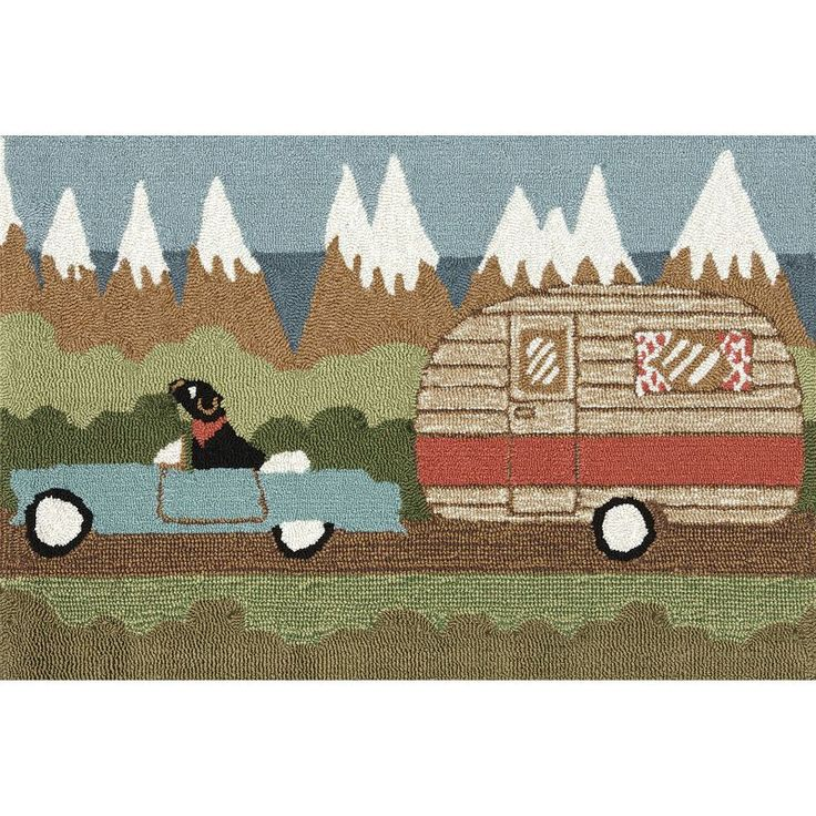 Liora Manné Trans Ocean Imports Frontporch Camping Dog Indoor Outdoor Rug