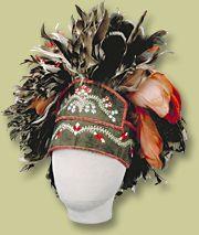 "Coiffe d'homme Huron Wendat A ""fancy"" but typical Wendat Men's Headdress."