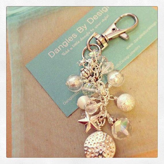 Purse+Keychain+dangle++silver+stars+by+DanglesbyDesign+on+Etsy