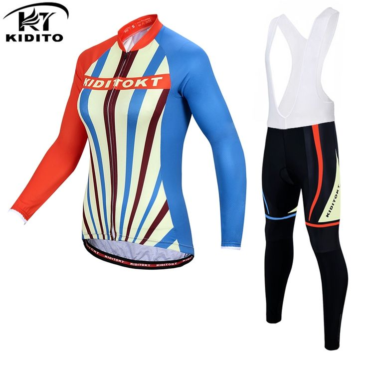 43.99$  Buy now - http://aligm3.shopchina.info/go.php?t=32774866416 - KIDITOKT Wallis Winter Women Cycling Jerseys/Super Warm Mountian Bicycle Sportswear/2017 Thermal Fleece Bike Cycling Clothing 43.99$ #aliexpress