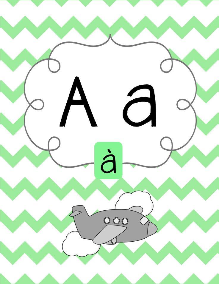 Affiches en français - alphabet, sons, numerous et encore plus!