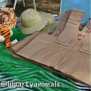 Lil Party Animals: Paper bag safari vest tutorial