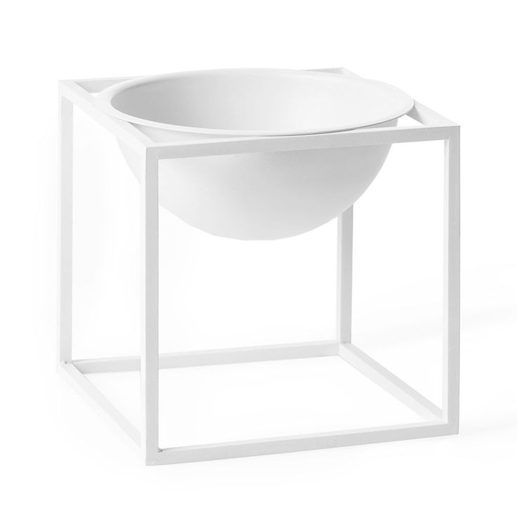 Kubus Bowl Skål Small, Hvit - by Lassen - by Lassen - RoyalDesign.no