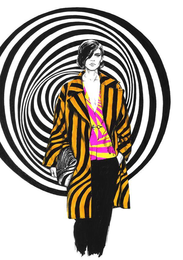 diana kuksa   dries van noten fashion illustration