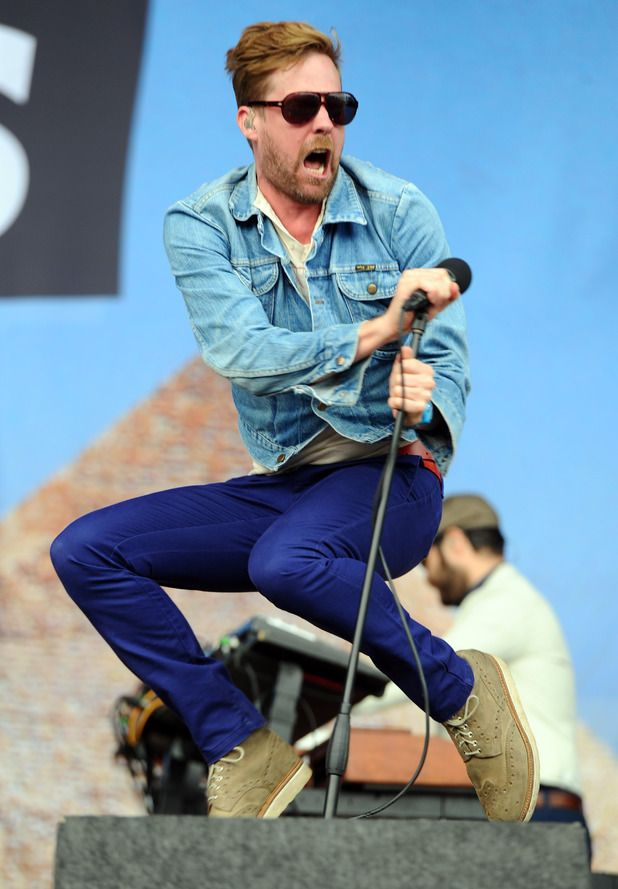 Ricky Wilson of The Kaiser Chiefs performs on stage at V festival 2014.