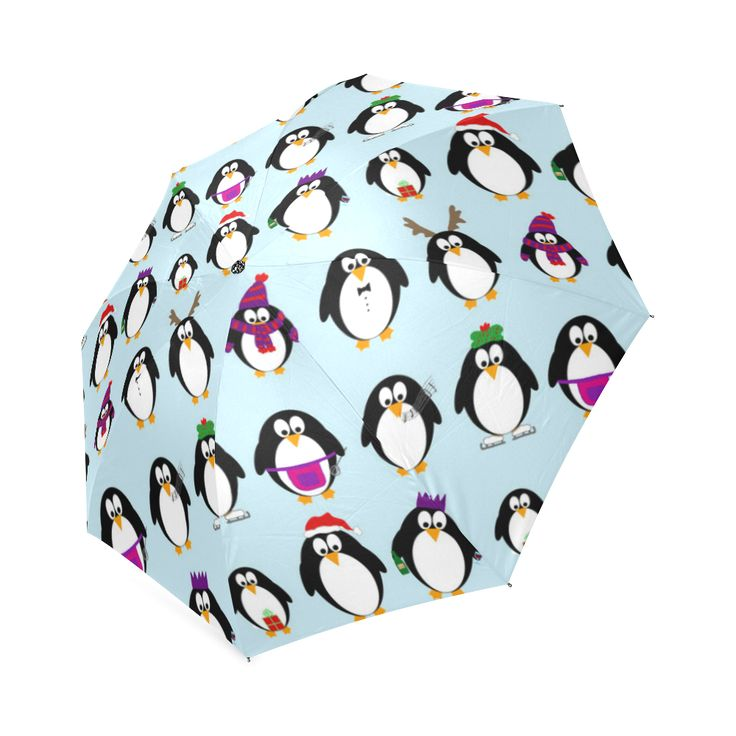 Christmas Party Penguins Foldable Umbrella