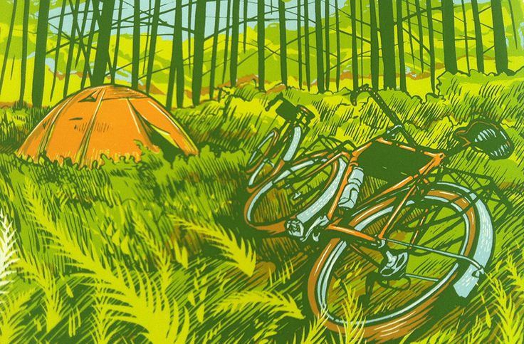 自転車旅のよろこびを情感豊かに描く、ミネアポリスのプリントアーティスト、Adam Turman