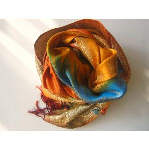 Colorful silk shawls Unique Luxury gifts for her Boho Bohemian Handmade shawls One of a kind