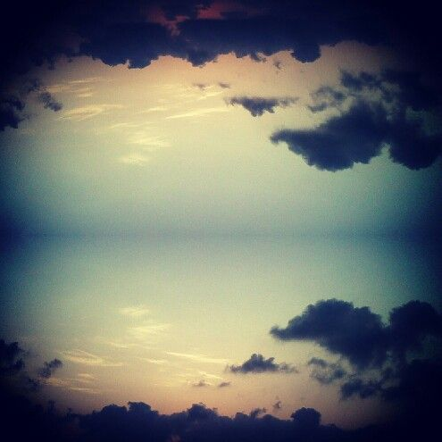 These is picture of #clouds #mirrorimage looks so magical #followme #photography