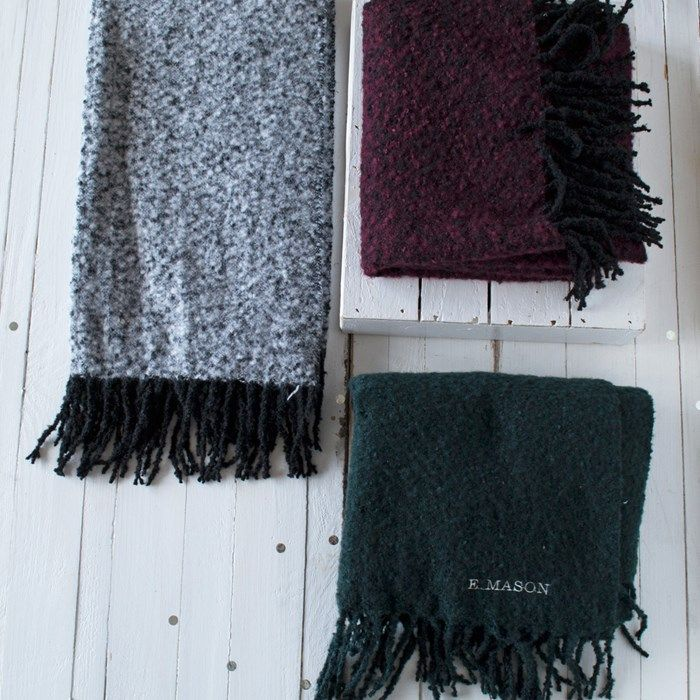 Personalised Mottled Winter Scarf | GettingPersonal.co.uk