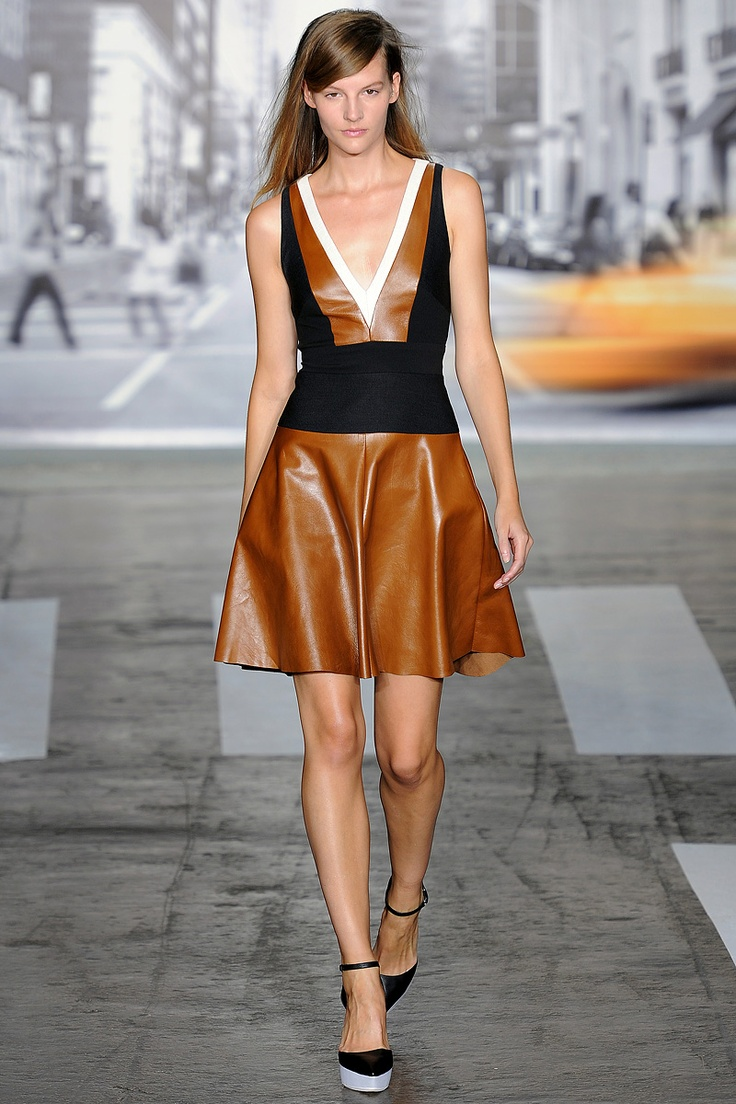 DKNY Spring 2013 RTW: Dkny Springsumm, 2013 Rtw, Fashion Week, Fashion Week, Spring Summer, Spring Collection, New York Fashion, Spring 2013, Leather Dresses