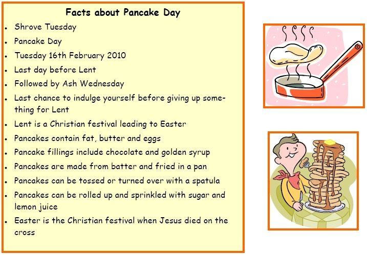 Pancake day facts - Try this memory test to get pupils to remember facts about Pancake Day.