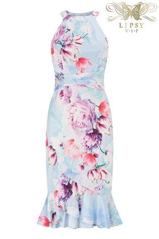 ee7d80cadb Lipsy Vip Tori Print Satin Ruffle Skirt Bodycon Dress | x Clothes x ...