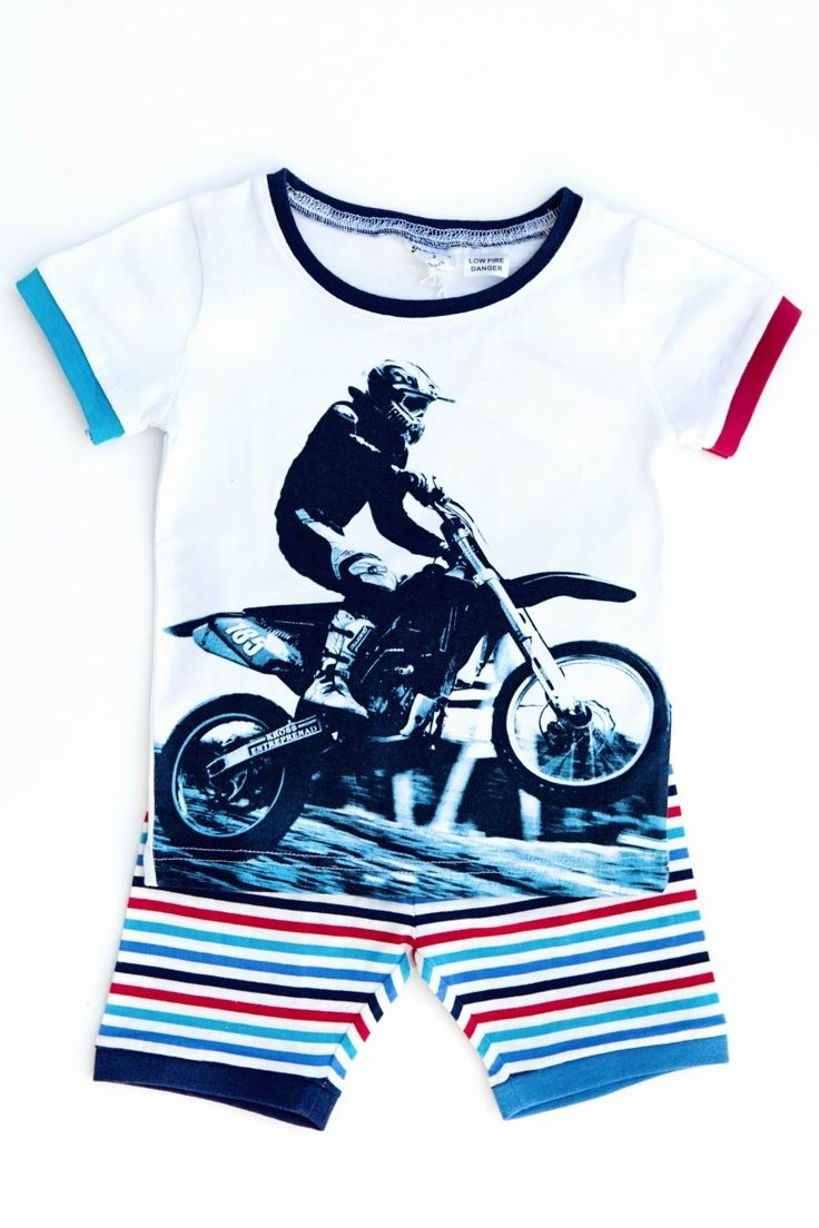 Dirt+Bike+Baby+Clothes | Home Products for Baby Clothing Boys Kids Dirt Bike PJ's