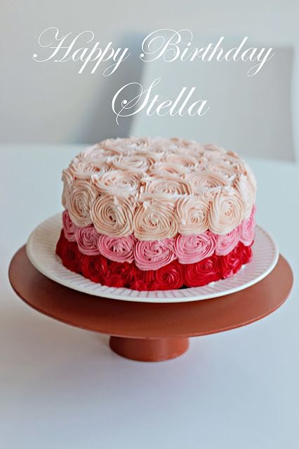 A rose cake for my little one!