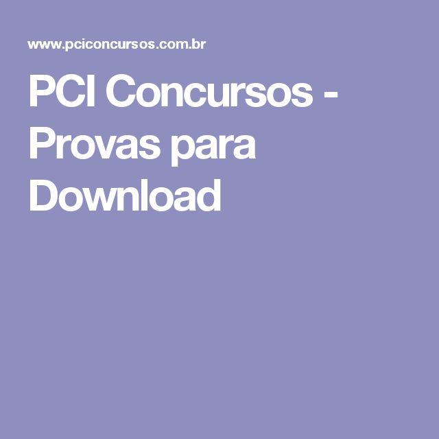 PCI Concursos - Provas para Download