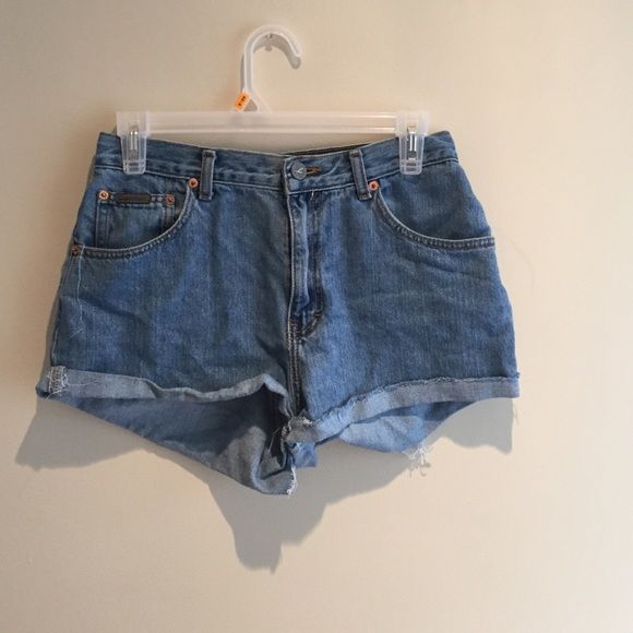Home made Calvin Klein shorts High waisted old Calvin Klein jeans made into shorts,super cute medium/light wash. Calvin Klein Jeans