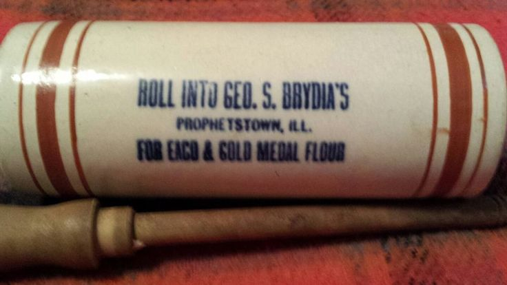 red wing stoneware rolling pin Prophetstown ill.