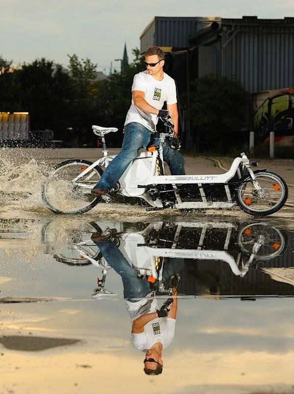 Bullit Cargo Bike Drifting