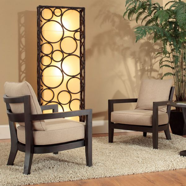 Decorative Armstrong Brown Geometric Transitional Floor Lamp - Overstock Shopping - Great Deals on Floor Lamps