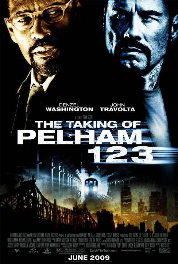 The Taking Of Pelham 123 Movie Poster 27 X 40 Denzel Washington John Travolta