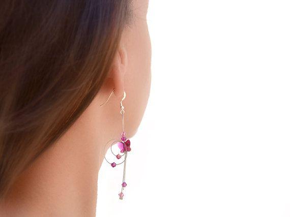 Crystal earrings Sterling silver earrings Swarovski by BeadABoo