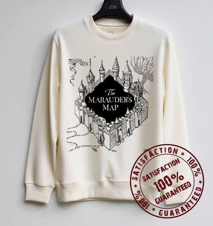 Marauder's Map Shirt Harry Potter Sweatshirt Sweater Hoodie Shirt – Size XS S M L XL by SweaterWeather2014 on Etsy https://www.etsy.com/listing/205259673/marauders-map-shirt-harry-potter