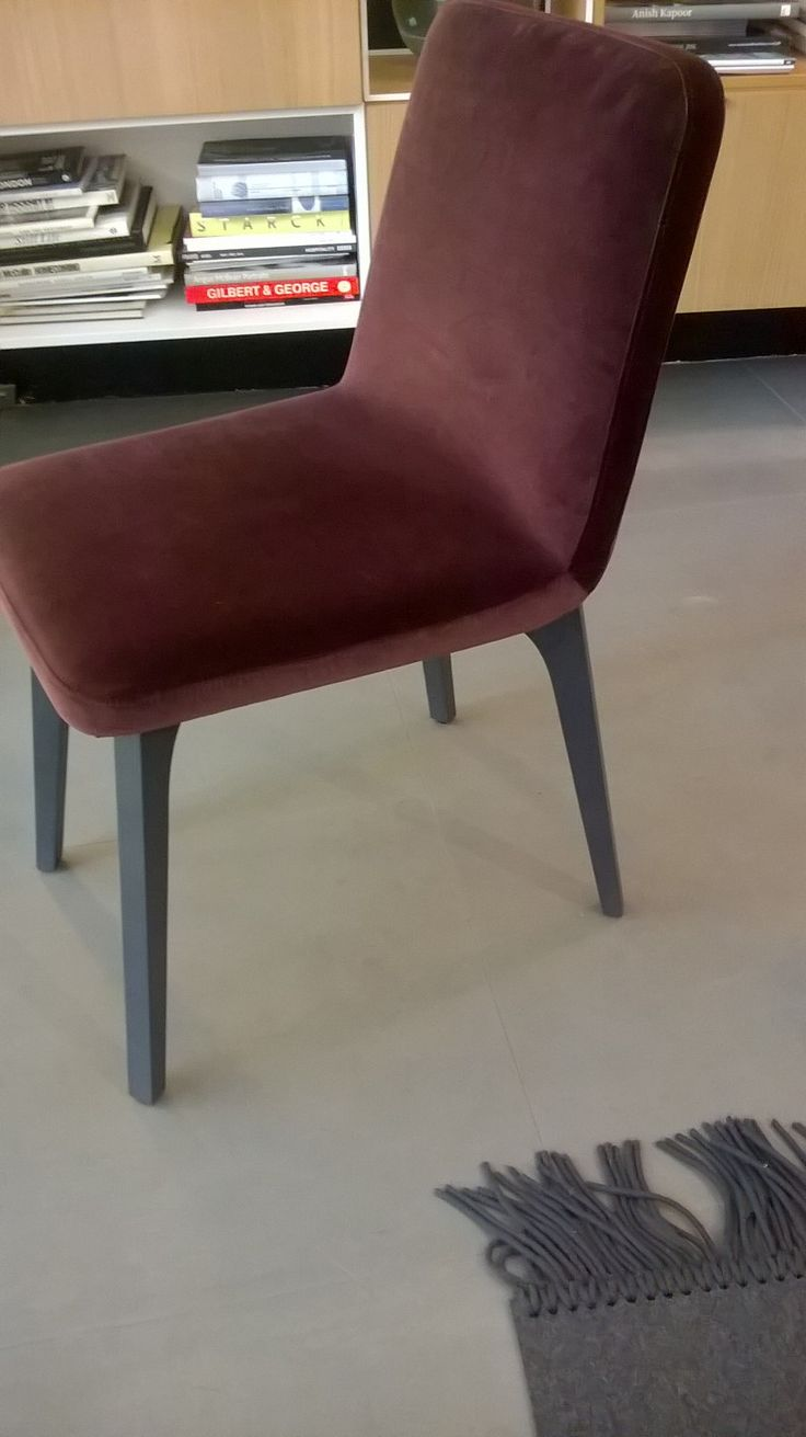 Island dining chair by ligne roset modern dining chairs los angeles - Pair Of Vik Dining Chairs In Moka Brown Velvet With Grey Ash Legs Regular Price Ligne Rosetpaysdining