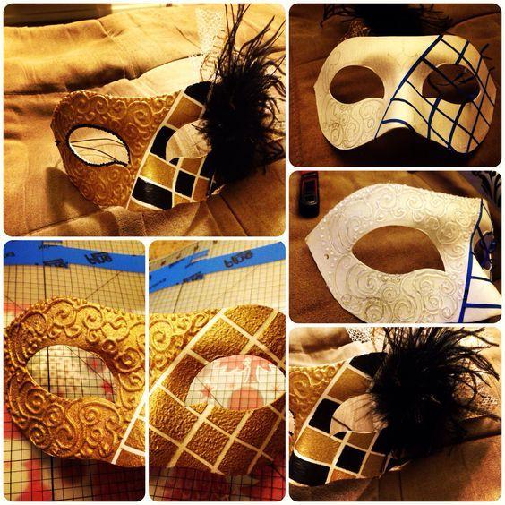 маскарадные маски DIY.  Совет 1: используйте глянцевую аэрозольную краску: