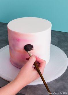 Simple Watercolour Cake Tutorial by Sweetness & Bite