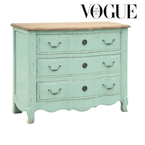 Etienne Aqua Large Chest Of Drawers : Www.beau Decor.co.uk