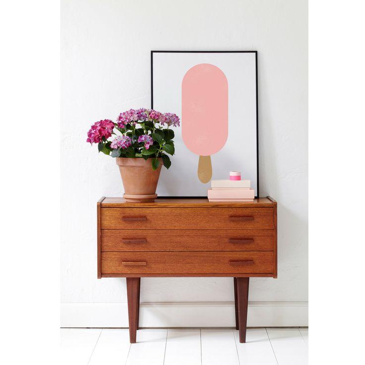 Froh und Frau plakat Magnum rosa | Interiør | Ting